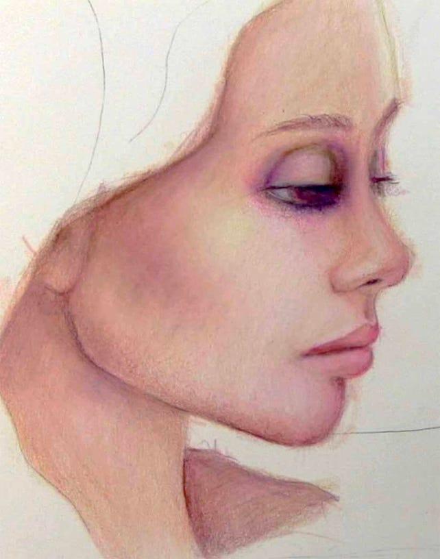 la visage colored pencil portrait workshop with suzi blu etsy