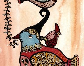 Totem of Birds - Art Print