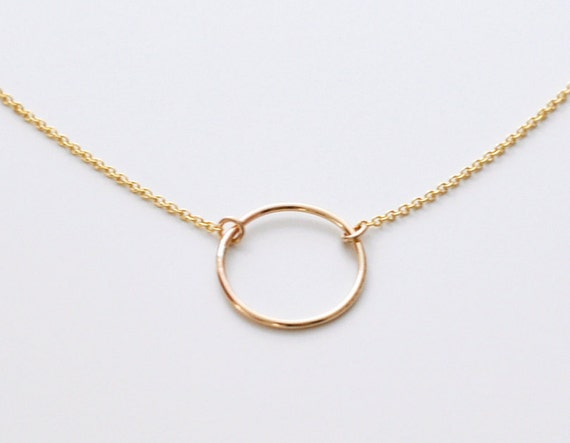 Open circle necklace gold circle pendant necklace small etsy image 0 aloadofball Images