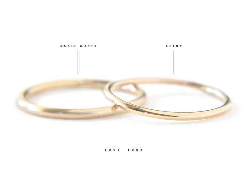 Sterling Silver round band plain thin silver band simple silver ring Ina 1.3mm delicate silver ring minimalist silver jewelry