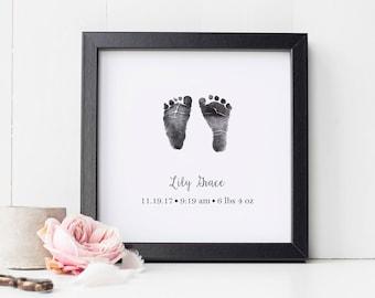 96fb439a0e40 Baby footprint art | Etsy