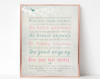 Be Kind Anyway Etsy