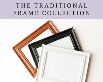 ADD ON a Traditional Frame - Prints will arrive framed and display-ready with hanging hardware attached