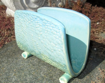 Napkin/Letter Holder in Shades of Turquoise