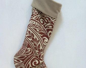 Aloha Polynesian Print Christmas Stockings