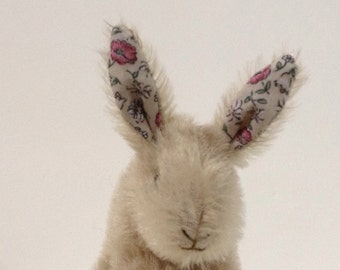 soft toy bunny rabbit from vintage mohair throw, plush...