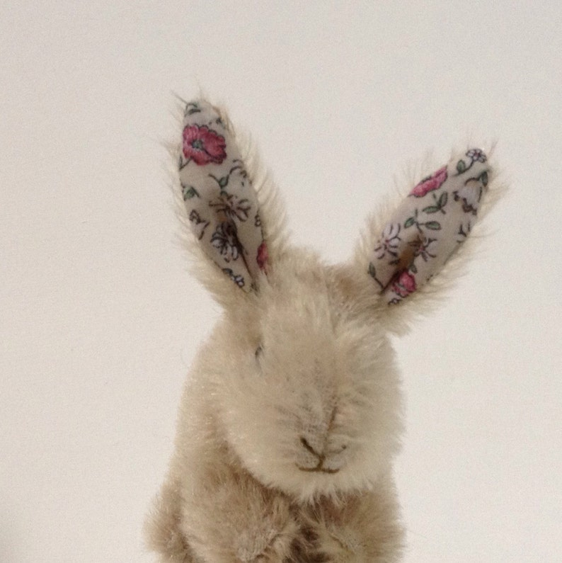 soft toy bunny rabbit from vintage mohair throw plush... image 0