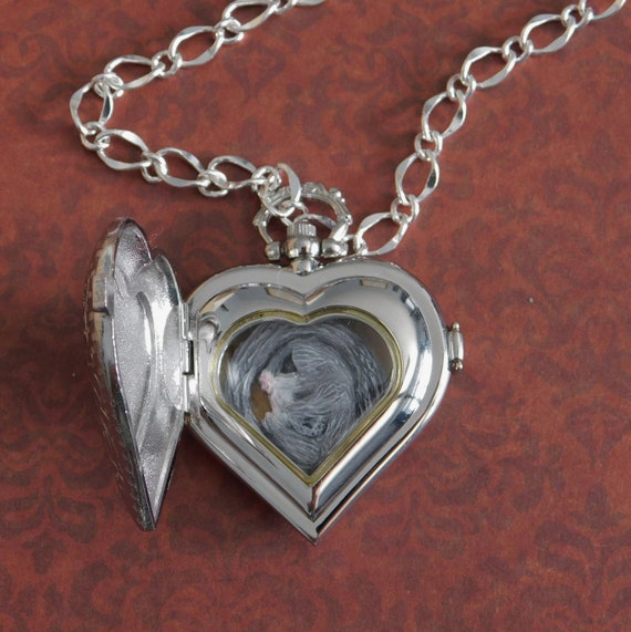 1 Beautiful Heart Shaped Locket Stainless Steel Pendant with Engraved Detailing
