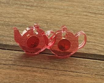 Teapot resin studs earrings
