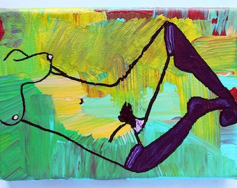 Natural Donna 7x4 acrylic painting