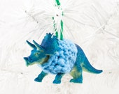 Triceratops in a Sweater Christmas Ornament
