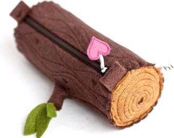 Wool Log Pencil Pouch