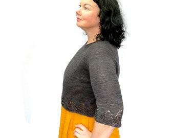 Ochre Sweater PDF Knitting Pattern Download