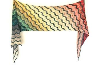 Adventuresome Wrap PDF Knitting Pattern Download