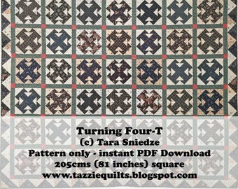 Turning Four-T Quilt Pattern