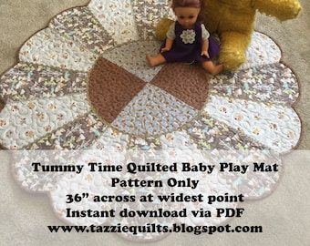Tummy Time Quilted Baby Play Mat - Pattern Only