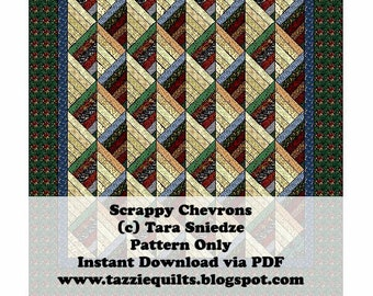 Scrappy Chevrons - A quilt pattern for scrap busting!