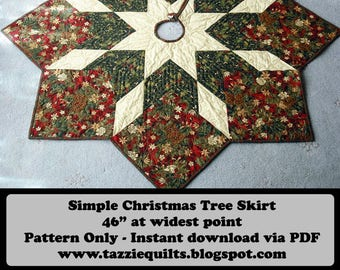 quilted christmas tree skirt pattern - Quilted Christmas Tree Skirt Pattern