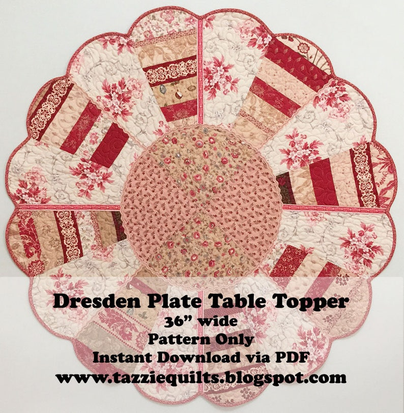 Dresden Plate Table Topper  Make this quilted table topper image 0