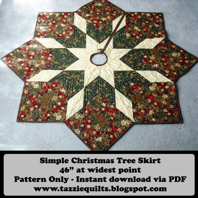 Quilted Christmas Tree Skirt Pattern image 0
