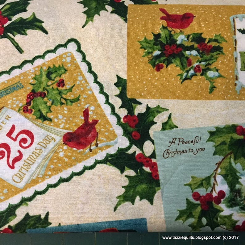 Yuletide Memories Fabric  24 length suitable for making image 0