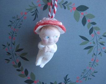 Toadstool ornament figurine