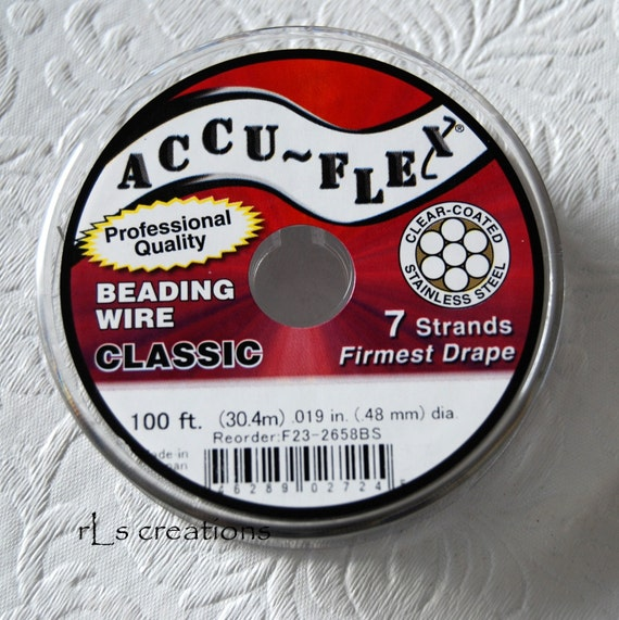Accu-Flex 7 Strand .019 Clear Coated Stainless Steel  100ft