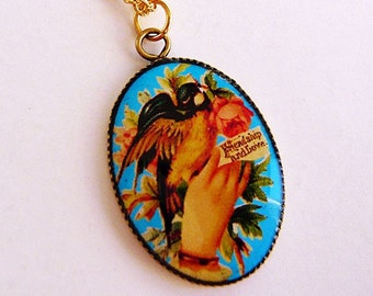 Friendship and Love Sparrow Bird Charm Necklace