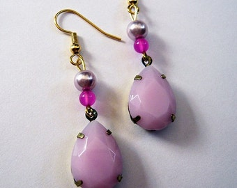 Light Purple Lilac Dangle Earrings