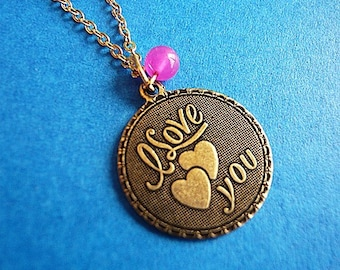 I Love You Retro Necklace