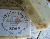 oatmeal mint cold processed soap