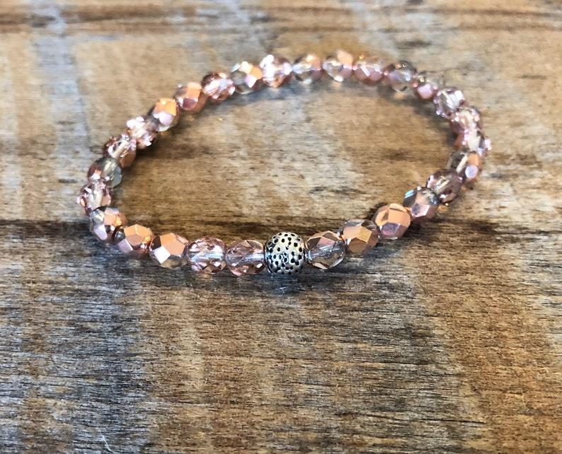 Crystal Stretch Bracelet/Stacking Bracelet/Copper image 0