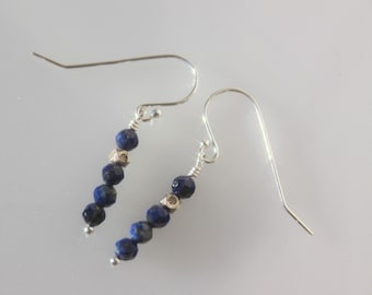 STACIA Lapis and Sterling Earrings