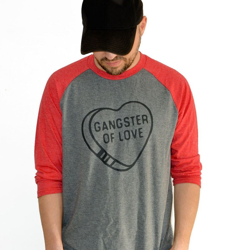 54a3bd9a Gangster of Love Baseball Tee Valentines Day Raglan Style | Etsy