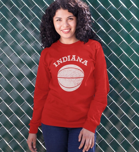 Unisex Long Sleeved Indiana Basketball T-Shirt Adult Mens or  4b17469f7