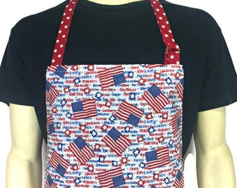 032c9f5bdca American Flag Apron with State Names