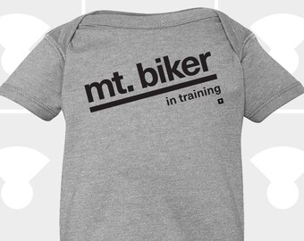 Mountain Biker In Training - Baby Onesie