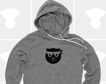 Cat, Hoodie, Mens Hoodie, Womens Hoodie, Cat Shirt, Sweatshirt, Pullover Hoodie, Gift for Cat Lover, Ninja Kitty, Cat, Kung Fu