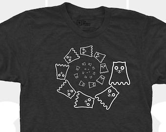 SPIRAL of GLOW ! Watson the Cat Ghost Shirt - Men/Unisex