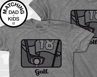 Matching Dad and Me Shirts - Golf