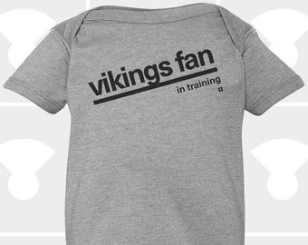 Vikings Fan In Training - Baby Onesie