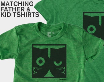 Matching Dad and Me Shirts - Dueling Watson the Cat