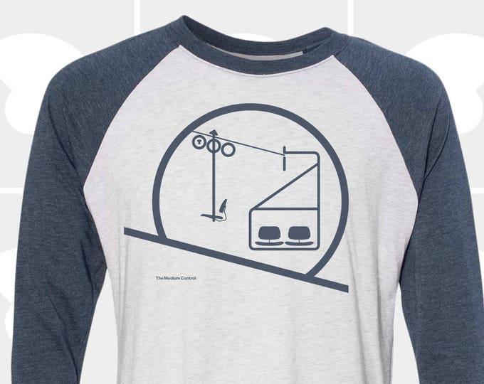 Featured listing image: Sunrise & Sunset Chairlift - Unisex Raglan Long Sleeve Shirt