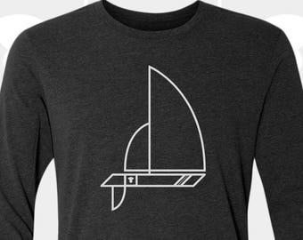 Sailboat - Unisex Long Sleeve T Shirt