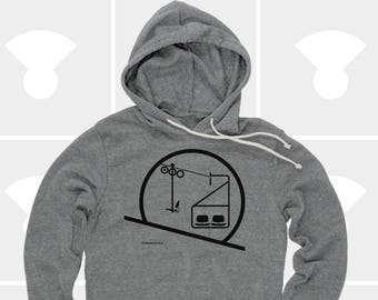Sunrise & Sunset Chairlift - Unisex Hoodie