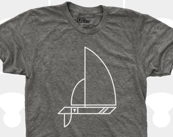 Men's TShirt Sailboat (Men) Sailing, Nautical, Boating Shirt American Apparel Men T-Shirt, Sizes S,M,L,Xl,Xxl (3 Colors) for Men