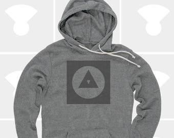 Men's Hoodie Explorer Icon (Men) Sweatshirt, Travel, Road Trip, Bauhaus, Adventure Shirt (2 Colors) Pullover Hoodie for Men