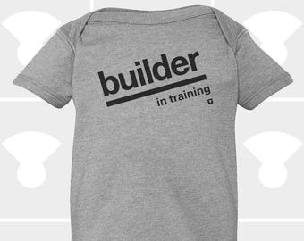 Baby Onesie, Builder In Training, Funny Onesie, Baby Shower Gift, Personalized Onesie, Baby Boy Onesie, Baby Girl Clothes, Newborn Gift