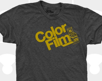 Mens Camera Shirt, Mens Gift, Color Film TShirt, Vintage Camera, Typography, Gift for Photographer, Instagram, Blue Men Shirt, Mens Clothes