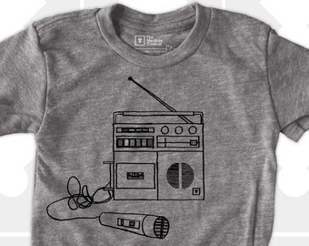 Boombox TShirt for Boys or Girls